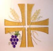 Evensided Wheat and Grapes Panel